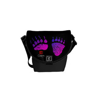 Bear Paws In Pink/Purple - Mini Messenger Bag