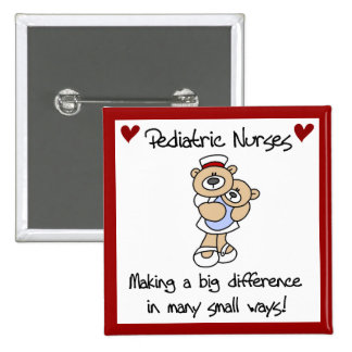 Bear Pediatric Nurses T-shirts and Gifts 15 Cm Square Badge