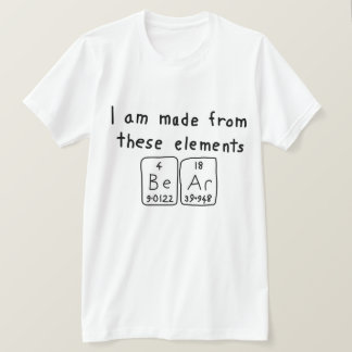 Bear periodic table name shirt