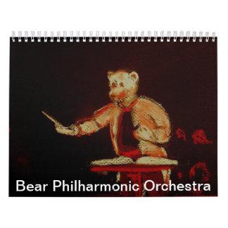 Bear Philharmonic Orchestra Wall Calendar
