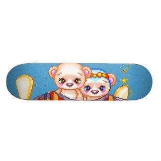 Bear Plane Pixel Art Airplane Skate Board Decks