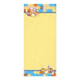 Bear Planes & Butterflies Pixel Art Rack Card