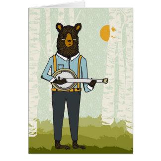 Bear Playing Banjo Card