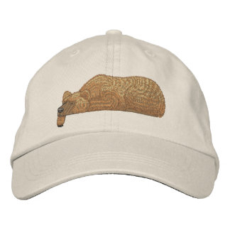 Bear Pocket Topper Embroidered Cap