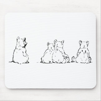 Bear Polar Arctic Freeze Frozen Winter Together Mouse Pad