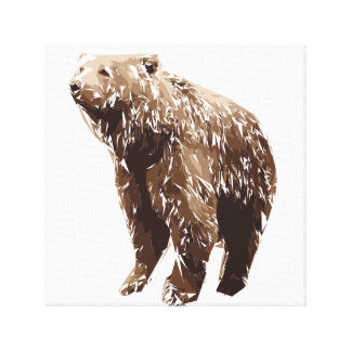 Bear polygon art illustration canvas print