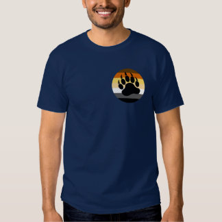 Bear Pride Circle and Black Paw (small front) Tee Shirts