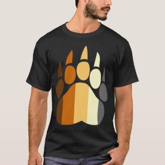 Bear Pride Colors Paw T-Shirt