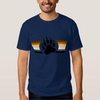 Bear Pride colors stripes and Bear Paw Tshirt