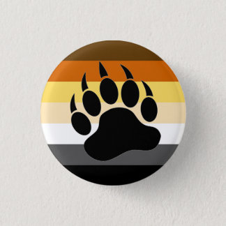 Bear Pride colors stripes Bear Paw 3 Cm Round Badge