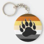 Bear pride Colours BEAR Paw Key Chain