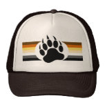 Bear Pride colours stripes and Bear Paw Cap