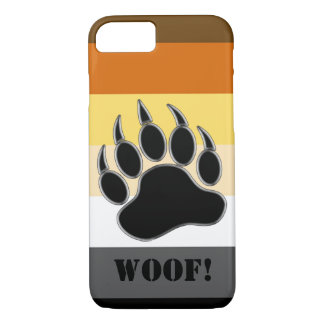 Bear Pride Flag Bear Paw Custom Woof iPhone 8/7 Case