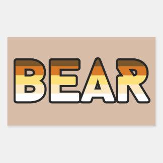 Bear Pride Flag Gear Rectangular Sticker