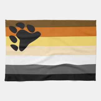 Bear Pride Flag Kitchen Towel