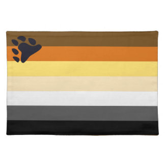 Bear Pride Flag Placemat for Gay Men