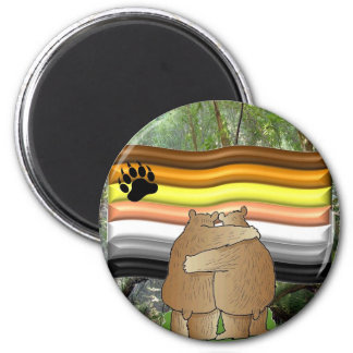 Bear Pride in the Woods 6 Cm Round Magnet