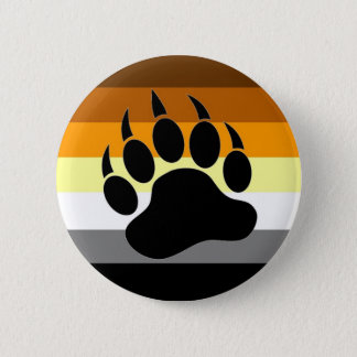 Bear Pride Paw 6 Cm Round Badge