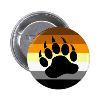 Bear Pride Paw 6 Cm Round Badge