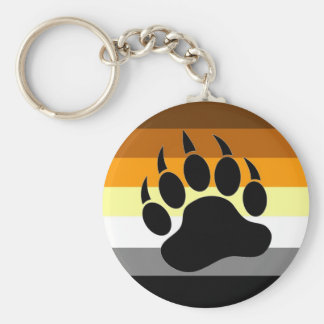 Bear Pride Paw Basic Round Button Key Ring