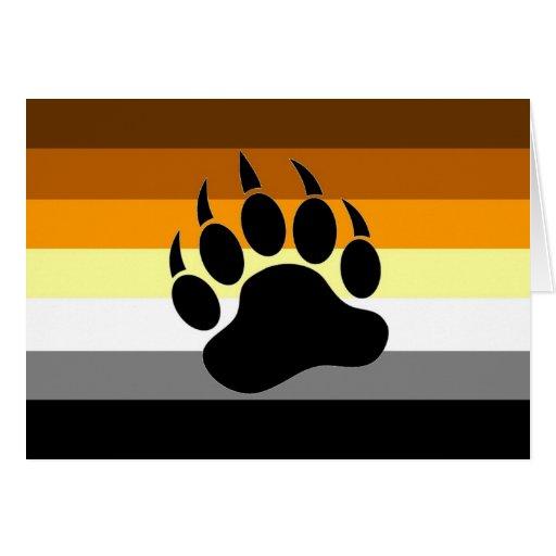 Bear Pride Paw Greeting Cards