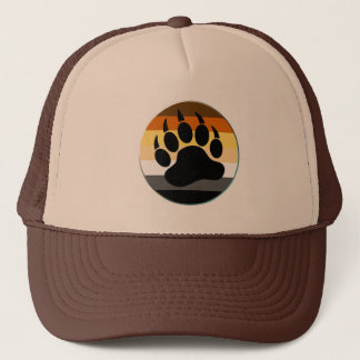 Bear Pride Rainbow Flag Circle And Claw Trucker Hat