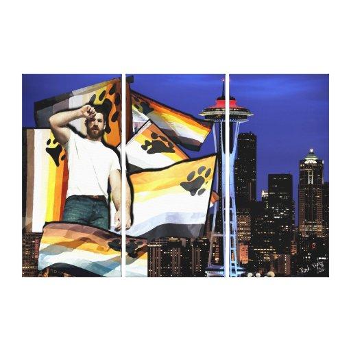 Bear Pride Seattle Gallery Wrap Canvas