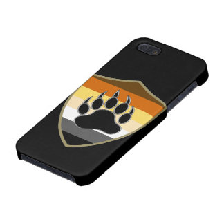 Bear Pride Shield Bear Paw - iPhone 5 Glossy Case iPhone 5/5S Cover