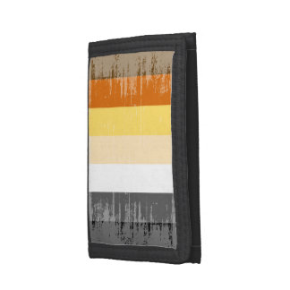 BEAR PRIDE STRIPES DISTRESSED DESIGN -.png Trifold Wallet