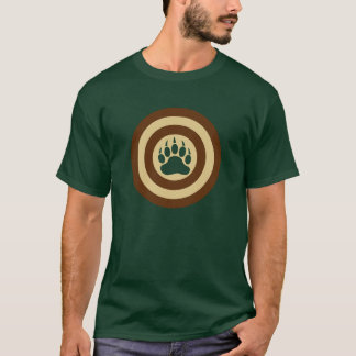 Bear Pride Super Hero Shield Bear Paw T-Shirt