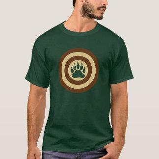 Bear Pride Super Hero Shield Bear Paw T-Shirt