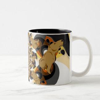 Bear Pride Swirly Two-Tone Coffee Mug