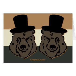 Bear Pride Wedding Card for Gay Grooms