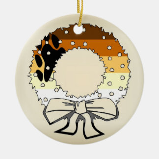 Bear Pride Wreath Christmas Ornament