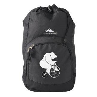 Bear Riding a Bike Backpack