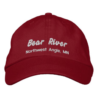 Bear River hat - embroidered white lettering Embroidered Baseball Caps