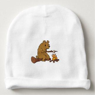 bear roasting marshmallows baby beanie