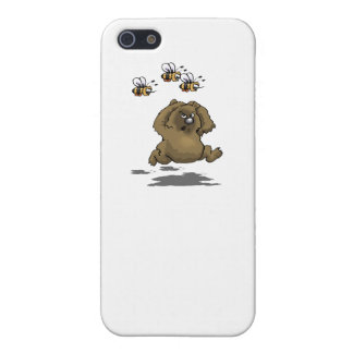 Bear Running From Bees Cover For iPhone 5/5S