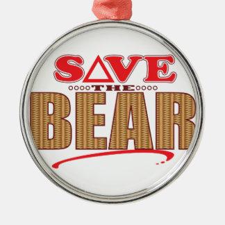 Bear Save Christmas Ornament