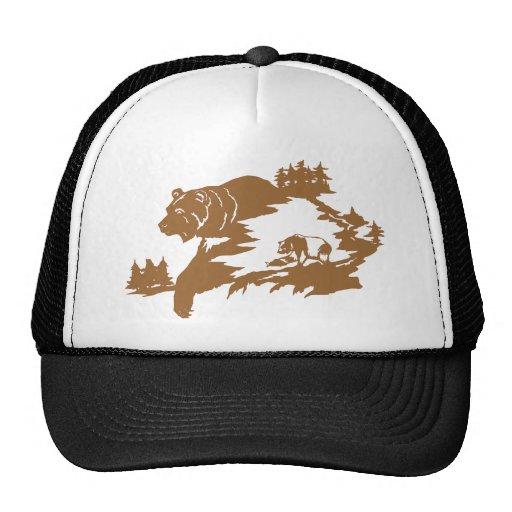 BEAR SCENE MESH HAT