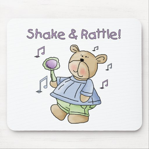 Bear Shake and Rattle Mouse Mats