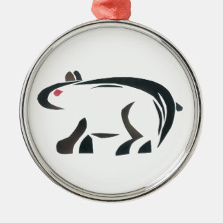 Bear Silver-Colored Round Decoration
