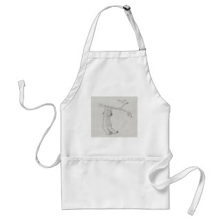 Bear sketch standard apron