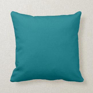 Bear skull watercolour turquoise back throw pillow