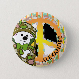 BEAR SOLDIER 2 CUTE CARTOON Small, 1¼ Inch 6 Cm Round Badge