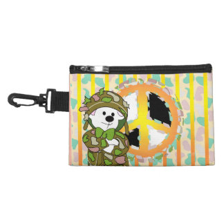BEAR SOLDIER CARTOON CLIP ON ACCESSORY BAG