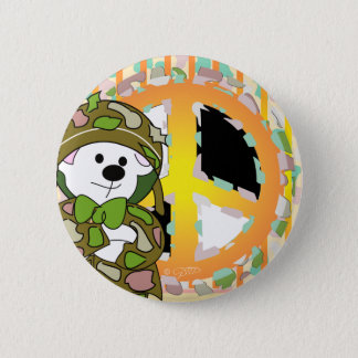 BEAR SOLDIER CUTE CARTOON Standard 2¼ 6 Cm Round Badge