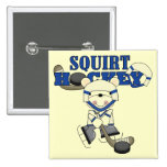 Bear Squirt Hockey Blue Tshirts and Gifts Pinback Buttons