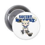 Bear Squirt Hockey Blue Tshirts and Gifts Pins