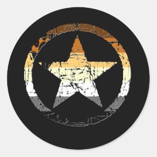Bear Stars Classic Round Sticker